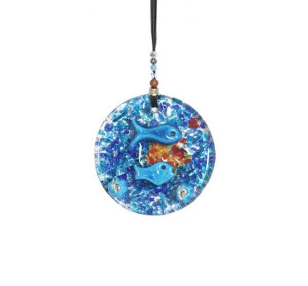 thick glass medium wall hanging key holder