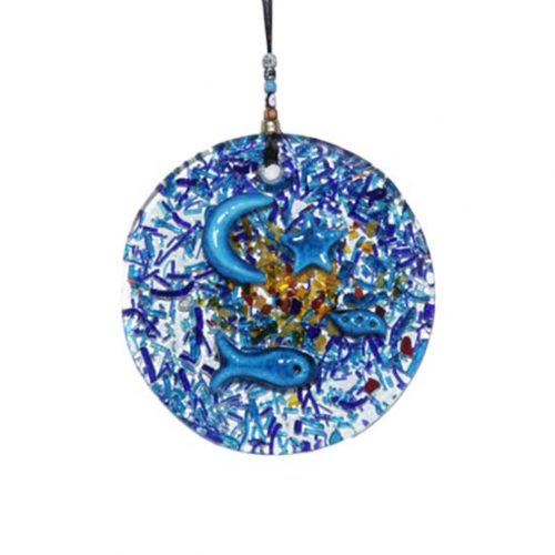thick glass Large Round Wall Hanging (Key Holder)