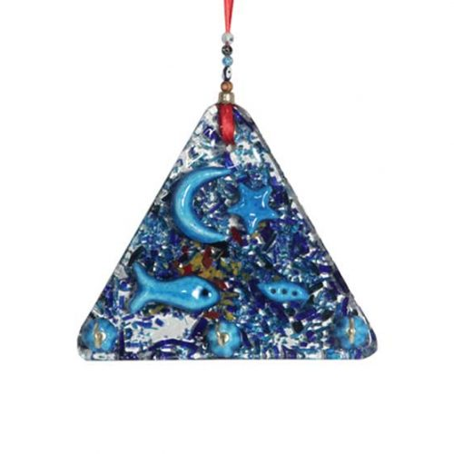 thick glass large triangle key holder