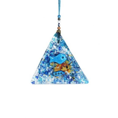 thick glass small triangle wall hanging