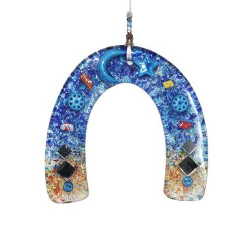 Thick glass Horseshoe Wall Hanging