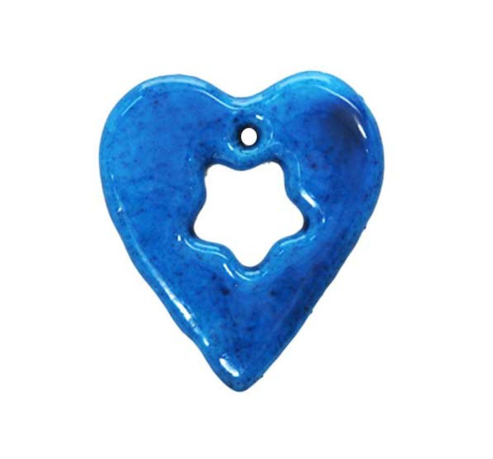 large cropped heart kharmohre bead