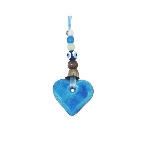 heart car mirror hanging kharmohre bead