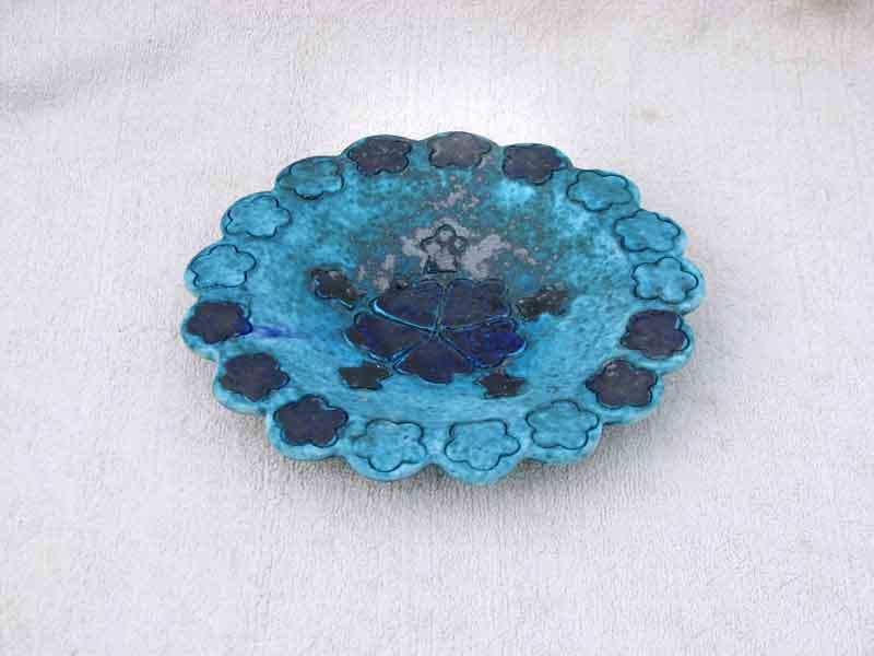 kharmohre persian blue serving plate